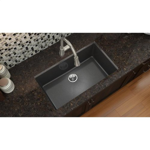 "Elkay Quartz Luxe 33"" x 18-7/16"" x 9-7/16"", Single Bowl Undermount Sink"