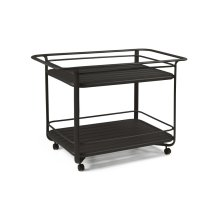 Serving Cart with Extruded Shelves