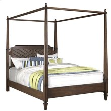 5/0 Queen Canopy Bed - Sable Finish