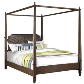 6/6 King Canopy Bed - Sable Finish