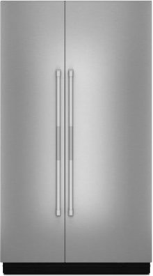 """RISE™ 48"""" Fully Integrated Built-In Side-by-Side Refrigerator Panel-Kit, Stainless Steel"""