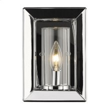 Smyth 1 Light Wall Sconce in Chrome with Clear Glass