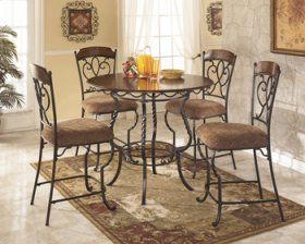 Nola Round Counter Table Set 5/CN