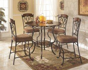 Nola Round Counter Table Set 5/CN