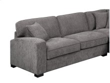 Repose - Lsf Loveseat W/1 Pillow-charcoal