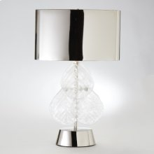 Murano Glass Leaf Table Lamp-Nickel