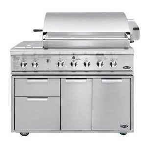 """48"""" Grill with Integrated Sideburnerfor Built-In or On Cart Applications"""