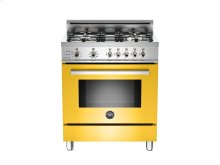 30 4-Burner, Electric Self-Clean Oven Yellow