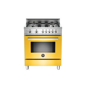 30 4-Burner, Electric Self-Clean Oven Yellow - Yellow