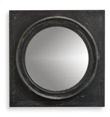 Circle Squared Mirror, Weathered Black