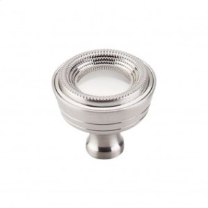 Beaded Knob 1 5/16 Inch - Brushed Satin Nickel