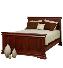 Legacy Queen Panel Bed with high footboard
