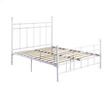 Emerald Home Alexandria Metal Bed White B204-12hbfbrwht