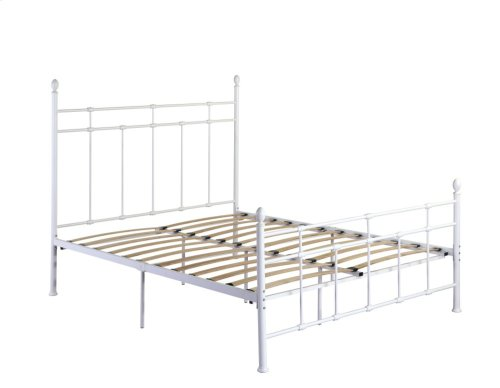 Emerald Home Alexandria Metal Bed White B204-08hbfbrwht