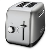 2-Slice Toaster with manual lift lever - Contour Silver Product Image