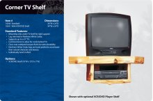 Corner TV Shelf