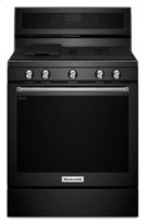 30-Inch 5-Burner Gas Convection Range - Black Product Image