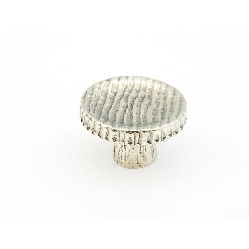 "Cast Bronze, Ovale, Round Knob, 1-3/4"" diameter, Polished White Bronze finish"