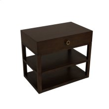 Light Brown Leeward Tier Large Bedside Table