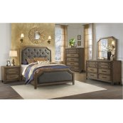 1051 Urban Charm Queen Bed with Dresser and Mirror