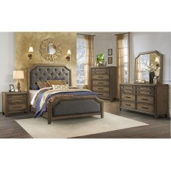 1051 Urban Charm King Bed with Dresser and Mirror