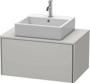 Vanity Unit For Console Wall-mounted, Concrete Gray Matt Decor