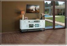 "70"" TV Stand w/ 6 Drawer & 2 Glass Door"