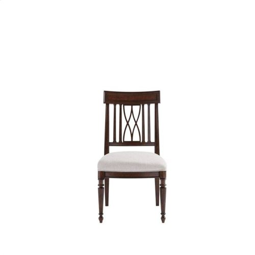 Villa Couture Lucca Side Chair in Mottled Walnut