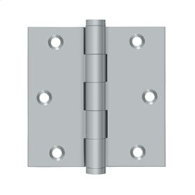 "3 1/2""x 3 1/2"" Square Hinge - Brushed Chrome"