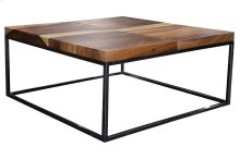 Cocktail Table, Available in Suar & Chrome and Natural & Chrome Finish.