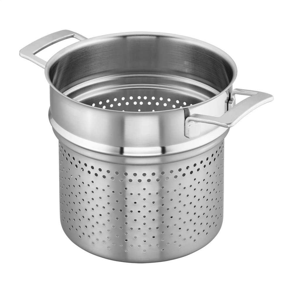 Demeyere Industry 5-Ply 8-qt Stainless Steel Pasta Insert (Fits 8-qt Stock Pot)