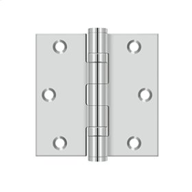 """3 1/2""""x 3 1/2"""" Square Hinge - Polished Stainless"""