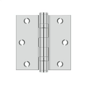 "3 1/2""x 3 1/2"" Square Hinge - Polished Stainless"