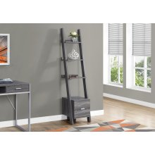 "BOOKCASE - 69""H / GREY LADDER W/ STORAGE DRAWER"