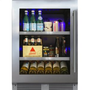 XO APPLIANCE24in Beverage Center SS Glass LH