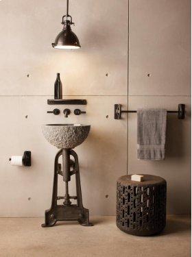 Oval Sink Blue Gray Granite