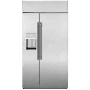 "Cafe Appliances42"" Smart Built-In Side-by-Side Refrigerator with Dispenser"