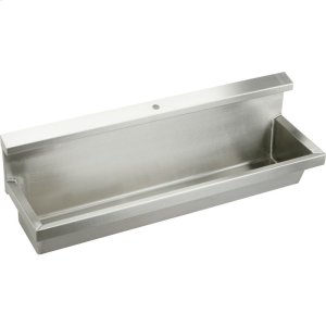 """Elkay Stainless Steel 60"""" x 14"""" x 8"""", Wall Hung Multiple Station Urinal Kit Product Image"""