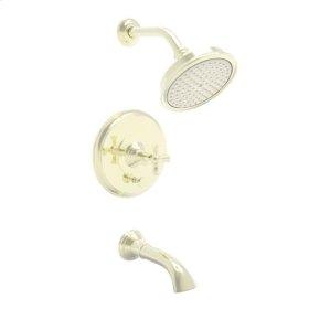 French-Gold-PVD Balanced Pressure Tub & Shower Trim Set
