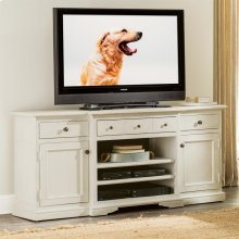 Juniper - TV Console - Chalk/natural Finish