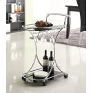 Chrome and Black Serving Cart Product Image