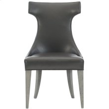 Tahlia Leather Side Chair in Weathered Greige