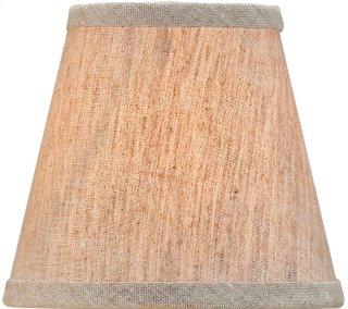 Natural Linen Shade, Small - 3 x 5 x 4.5
