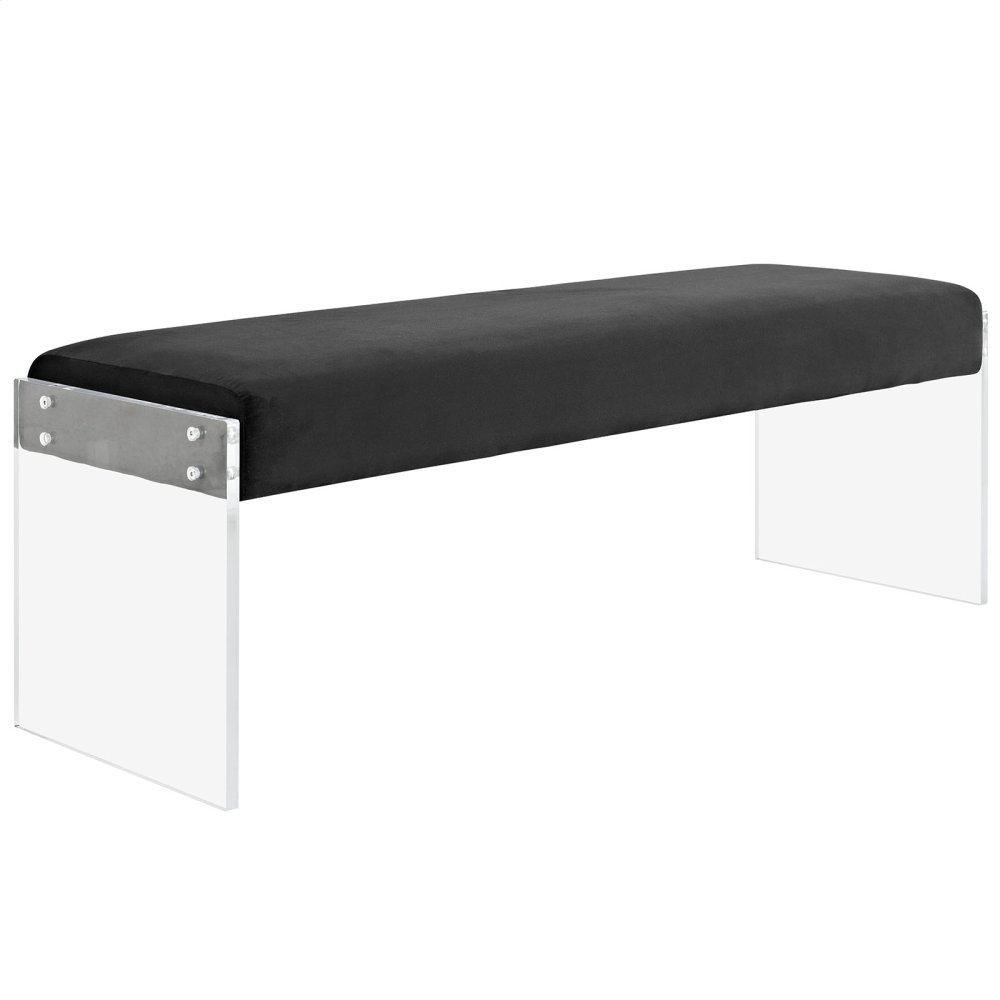 Roam Performance Velvet Bench in Black