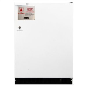 Marvel24-In Flammable Material Refrigerator Freezer with Door Style - White