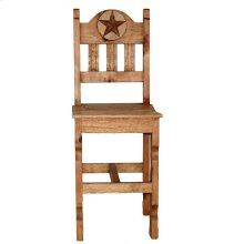 "26"" Wood Seat Marble Star Bar Stool"