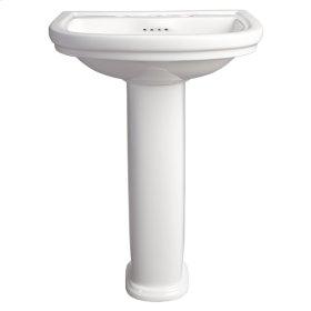 St. George Pedestal Bathroom Sink - Canvas White