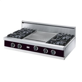 "Plum 42"" Open Burner Rangetop - VGRT (42"" wide, four burners 18"" wide griddle/simmer plate)"