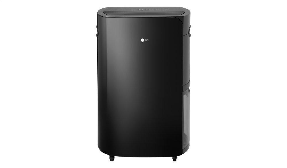 LG PuriCare 70 Pint Dehumidifier  BLACK