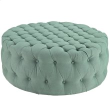 Amour Upholstered Fabric Ottoman in Laguna